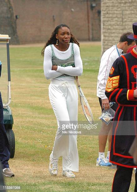 Venus Williams during American Express Aces Programme Photocall with Venus Williams and Andy Roddick at Tower of London in London Great Britain