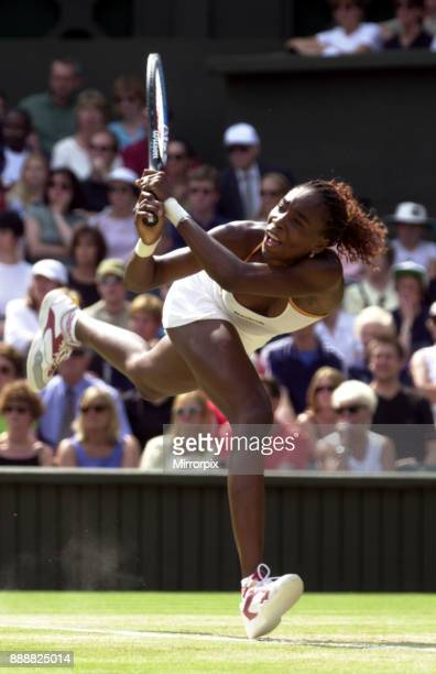 Venus Williams in action during her semi final match July 2000 at Wimbledon against her sister Serena Williams