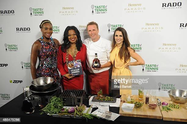 Venus Williams Jacquie Lee Marc Murphy and Andi Dorfman appear at the Taste of Tennis Gala during Taste of Tennis Week at W New York on August 27...