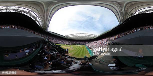 Venus Williams of The United States waits to receive serve during the Ladies Singles Semi Final match against Angelique Kerber of Germany on day ten...