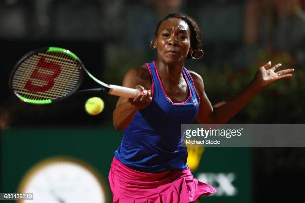 Venus Williams of USA in action during her forst round match againt Yaroslava Shvedova of Kazakhstan on Day Two of The Internazionali BNL d'Italia...