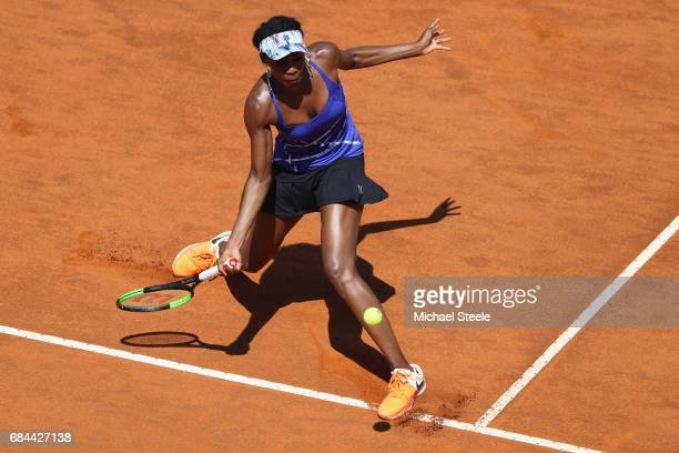Venus Williams of USA in action during the women's third round match against Johanna Konta of Great Britain on Day Five of the Internazionali BNL...