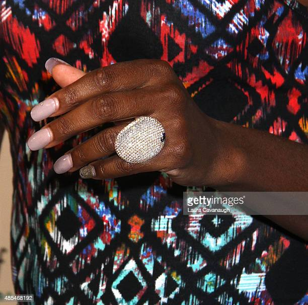 Venus Williams ring detail attends the 2015 Taste of Tennis New York at the W New York Hotel on August 27 2015 in New York City