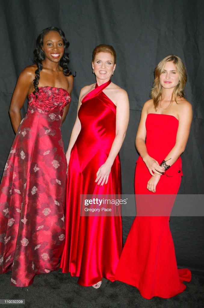 Venus Williams, Sarah Ferguson and Lauren Bush