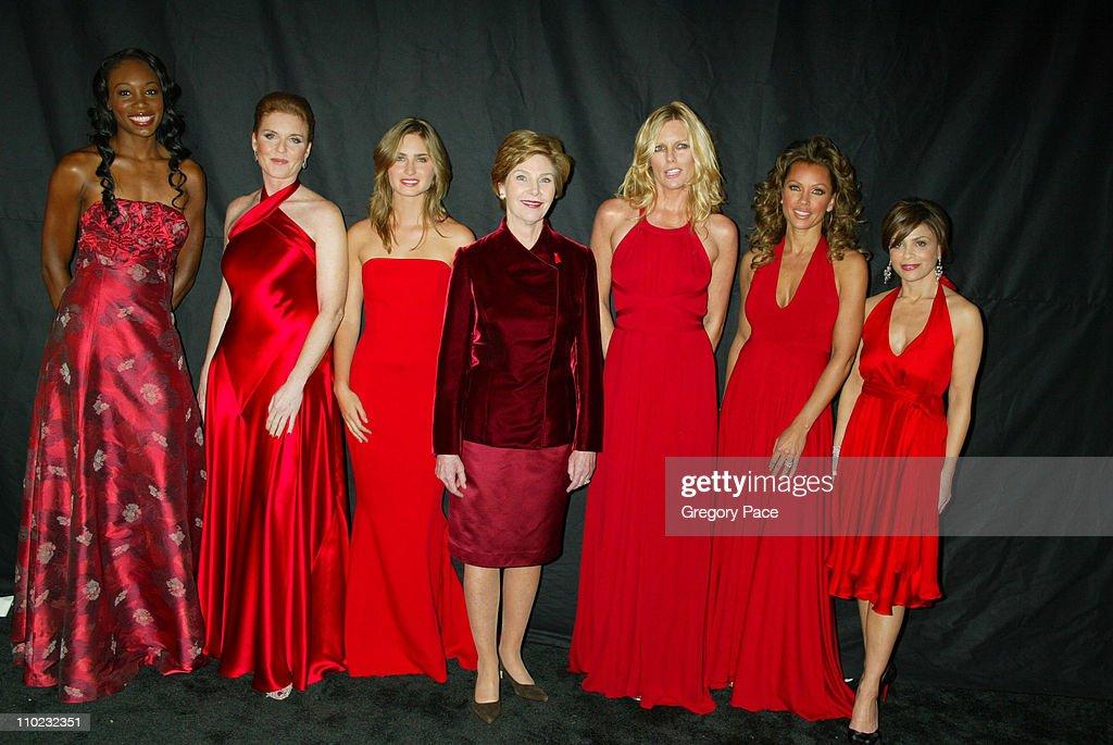 Venus Williams, Sarah Ferguson, Lauren Bush (niece of the First Lady), First Lady Laura Bush, Patti Hansen, Vanessa Williams and Paula Abdul