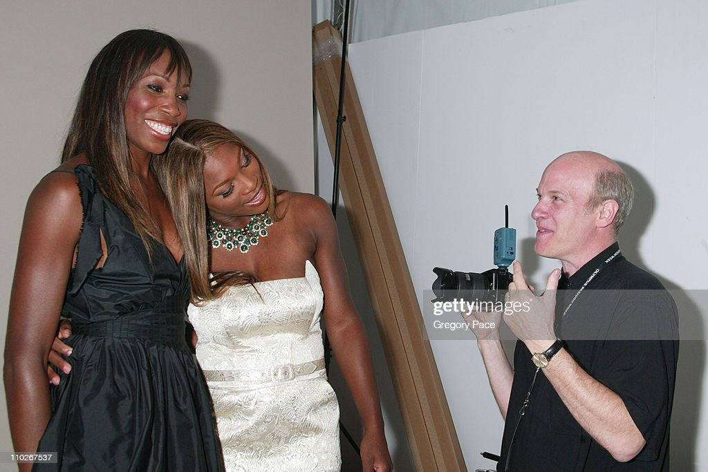 Venus Williams Serena Williams and Timothy Greenfield Sanders photographer