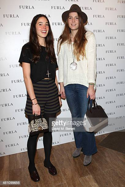 Vera Arrivabene and guest attend the Furla flagship store reopening on November 21 2013 in London England