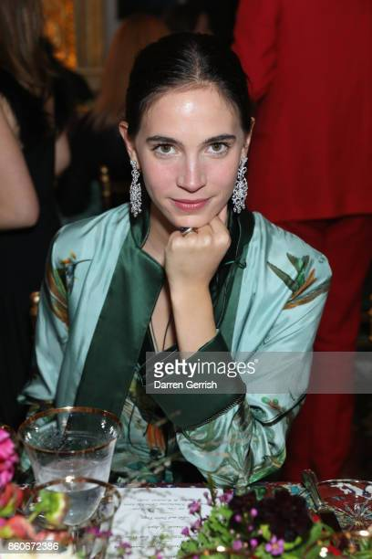 Vera Arrivabene attends Giampiero Bodino's 'Beauty Is My Favourite Colour' cocktails and dinner evening at Spencer House on October 11 2017 in London...