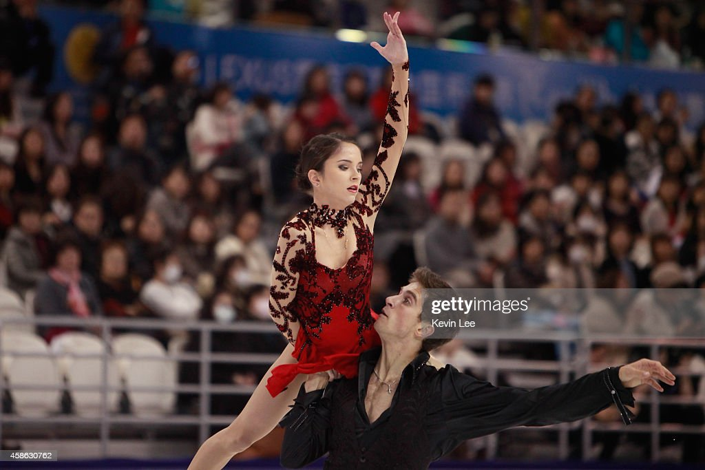 Vera Bazarova and Andrei Deputat of Russia skate in Pairs Free Skating during the Lexus Cup of China 2014 on November 8, 2014 in Shanghai, China.