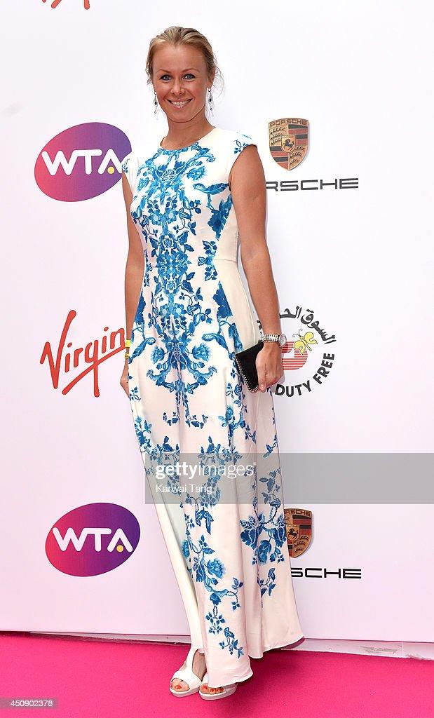 Vera Dushevina attends the WTA PreWimbledon party at Kensington Roof Gardens on June 19 2014 in London England