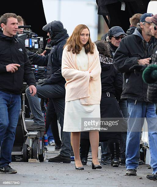 Vera Farmiga and the cast of The Conjuring 2 The Enfield Poltergeist are seen filming on November 25 2015 in London England