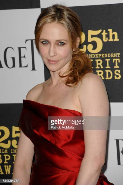 Vera Farmiga attends The 25th INDEPENDENT SPIRIT AWARDS ARRIVALS at Nokia Theatre LA Live on March 5 2010 in Los Angeles California