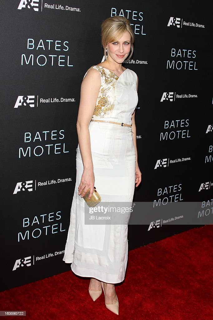Vera Farmiga attends the A&E new series premiere of 'Bates Motel' at Soho House on March 12, 2013 in West Hollywood, California.