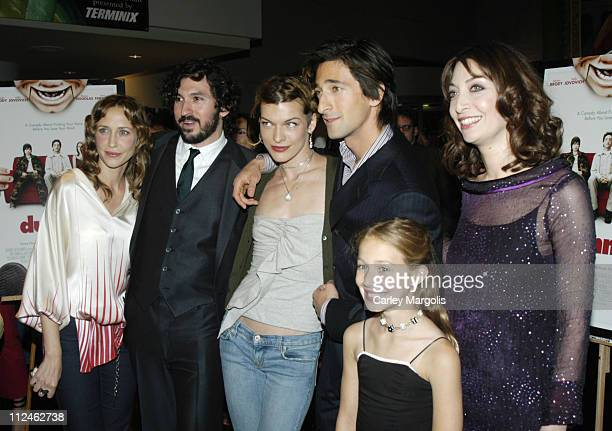 Vera Farmiga Greg Pritikin Milla Jovovich Adrien Brody Mirabella Pisani and Illeana Douglas