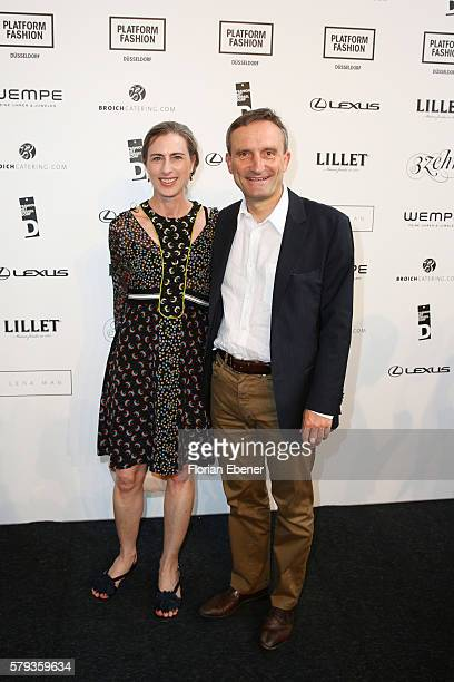 Vera Geisel and Thomas Geisel the Fashion Net Presents Duesseldorf Designers show during Platform Fashion July 2016 at Areal Boehler on July 23 2016...