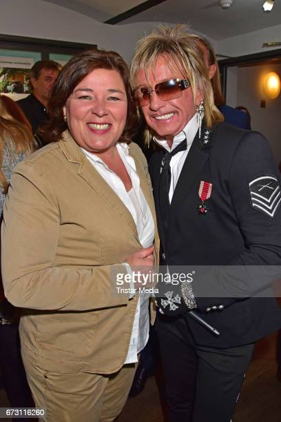 Vera IntVeen and Bert Wollersheim during the celebration of Julian F M Stoeckels 25th birthday on April 25 2017 in Berlin Germany