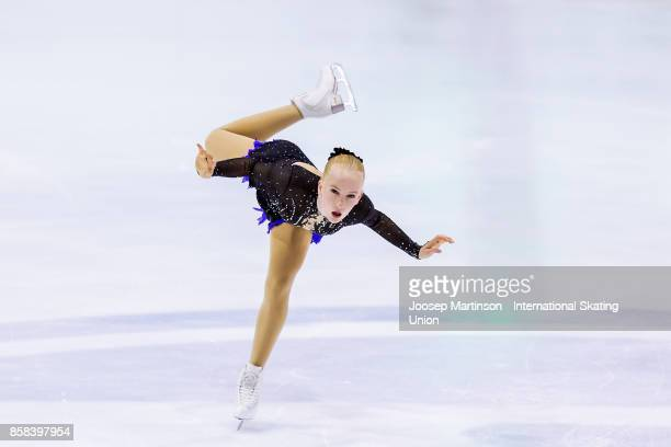 Vera Stolt of Finland competes in the Ladies Free Skating during day two of the ISU Junior Grand Prix of Figure Skating at Olivia Ice Rink on October...