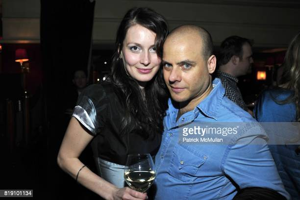 Vera Szombathelyi and Gary Lippman attend NEXT FALL Opening Night at the Helen Hayes Theatre Party at Bond 45 on March 11 2010 in New York City