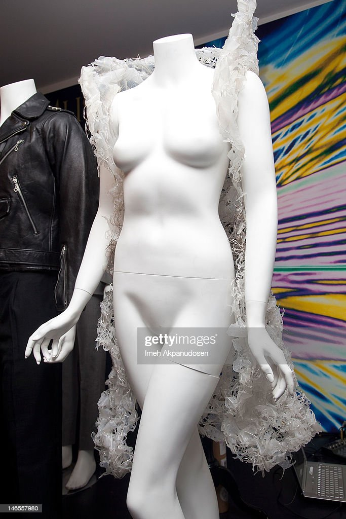 A Vera Thordardottir clothing item worn in concert by Lady Gaga on display during the Music Icons And Sports Legends Memorabilia Auction Press Call at Julien's Auctions Gallery on June 18, 2012 in Beverly Hills, California.