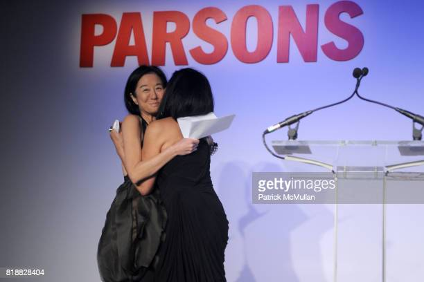 Vera Wang and Candy Pratts Price attend PARSONS 2010 Fashion Benefit Honoring WILLIAM FUNG and VERA WANG at Pier 60 on April 26 2010 in New York City