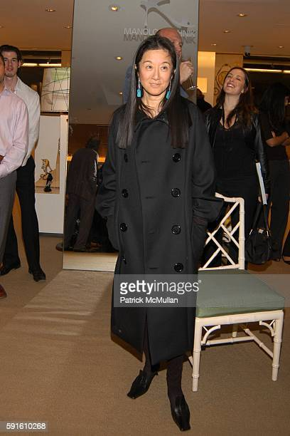 Vera Wang attends Candy Pratts Price party for Manolo Blahnik and Eric Boman and their new book BLAHNIK BY BOMAN at Barneys on November 15 2005 in...