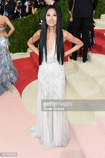 Vera Wang attends the 'Manus x Machina Fashion In An Age Of Technology' Costume Institute Gala at Metropolitan Museum of Art on May 2 2016 in New...