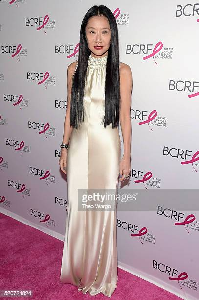 Vera Wang walks the red carpet at the Breast Cancer Research Foundation's Hot Pink Party at the Waldorf Astoria Hotel on April 12 2016 in New York...