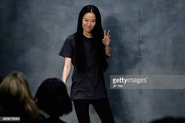 Vera Wang walks the runway at the Vera Wang fashion show during MercedesBenz Fashion Week Fall 2015 on February 17 2015 in New York City