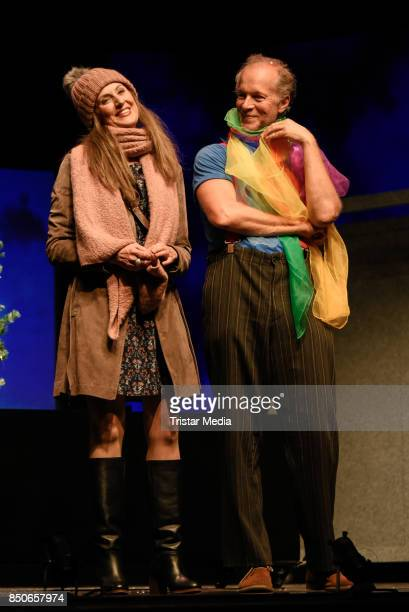 Vera Weisbrod and Jochen Horst during the 'Und Gott sprach Wir muessen reden' rehearsal photo call at Komoedie am Kurfuerstendamm on September 21...
