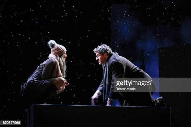 Vera Weisbrod and Stephan Szasz during the 'Und Gott sprach Wir muessen reden' rehearsal photo call at Komoedie am Kurfuerstendamm on September 21...