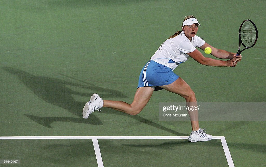 Vera Zvonareva Of Russia In Action Against Fabiola Zuluaga Colombia During Day Four The