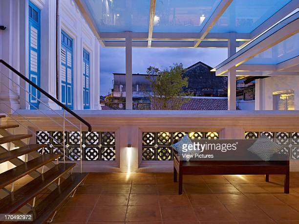 Veranda/terrace view over the garden 23 Love Lane Georgetown Penang Malaysia Architect BYG Architecture SDN BHD 2012