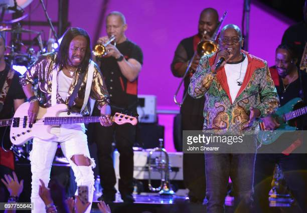 Verdine White and Philip Bailey performs onstage of Earth Wind Fire during CMT Crossroads Earth Wind Fire and Friends on June 6 2017 in Nashville...