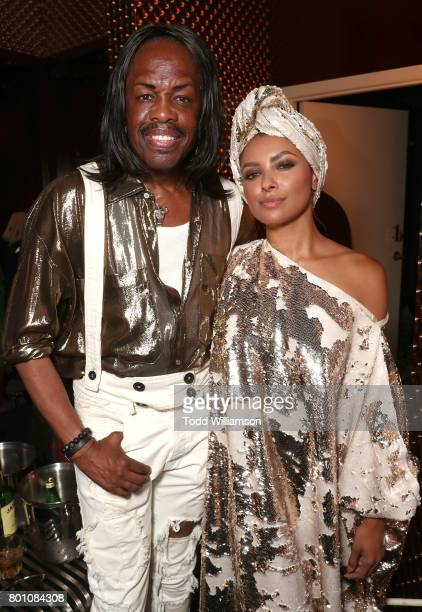 Verdine White and Princess Kat Graham attend a Love Music Funk Jam hosted by Kat Graham at The Peppermint Club on June 25 2017 in Los Angeles...