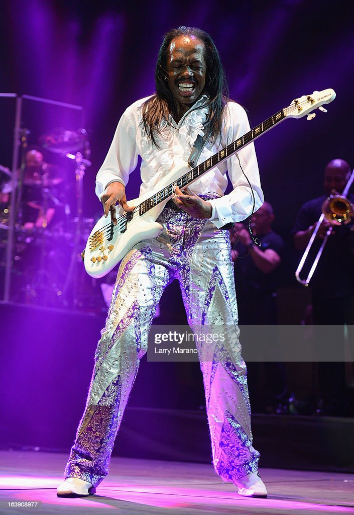 Verdine White of Earth, Wind & Fire performs at the 8th Annual Jazz in the Gardens Day 2 at Sun Life Stadium presented by the City of Miami Gardens on March 17, 2013 in Miami Gardens, Florida.