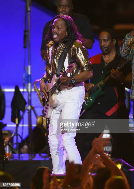 Verdine White performs onstage of Earth Wind Fire during CMT Crossroads Earth Wind Fire and Friends on June 6 2017 in Nashville Tennessee