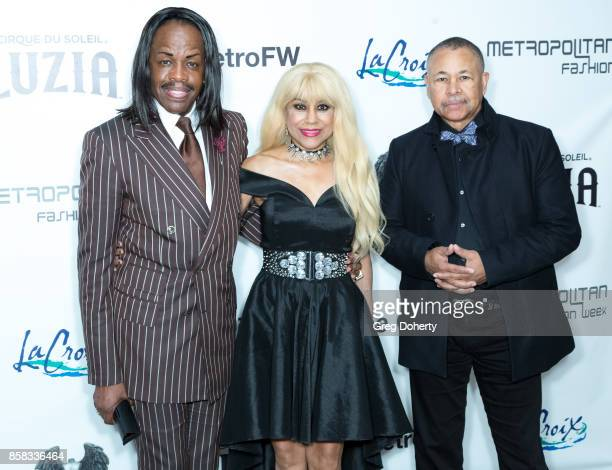 Verdine White Shelly Clark and Ralph Johnson of Earth Wind and Fire attend the Metropolitan Fashion Week Closing Night Gala at Arcadia Performing...