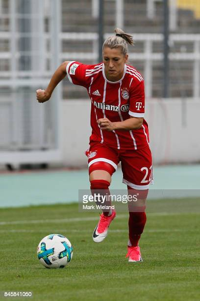 Verena Faisst of Bayern Muenchen in action during the women Bundesliga match between Bayern Muenchen and SC Freiburg at Stadion an der Gruenwalder...