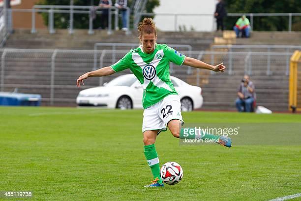 Verena Faisst of Wolfsburg during the Allianz Women's Bundesliga match between VfL Wolfsburg and SC Freiburg on August 30 2014 in Wolfsburg Germany
