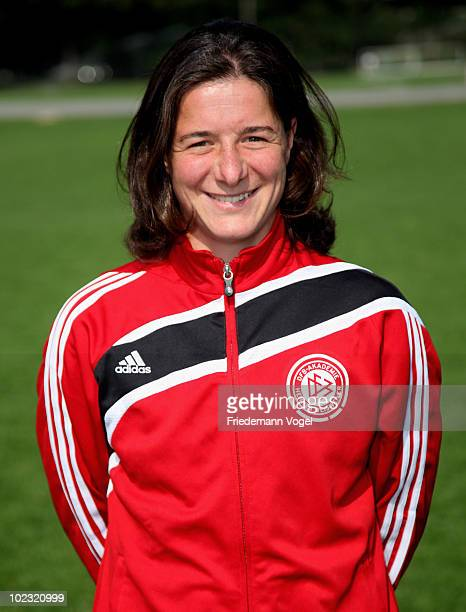 Verena Hagedorn of the DFB Pro Licence Course 2010/2011 poses during the photocall at the Rheinenergie Stadium on June 23 2010 in Cologne Germany
