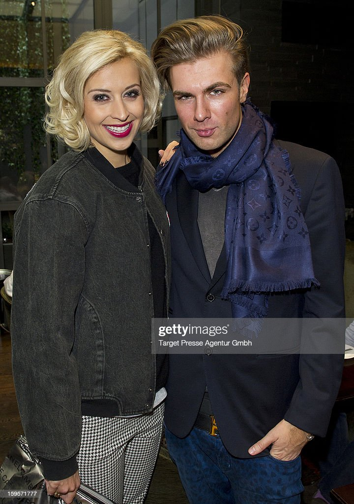 Verena Kerth and Andre Borchers attend the Grazia Pop Up Casino during the Mercedes Benz Fashion Week Autumn/Winter 2013/14 at the Restaurant Uma on January 16, 2013 in Berlin, Germany.