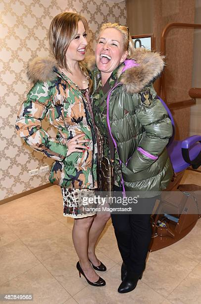 Verena Kerth and Claudia Effenberg attend the 'Relax and Smile' Anniversary Celebration April 4 2014 in Munich Germany