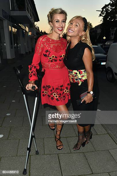 Verena Kerth and Julia Prillwitz during the My Big Fat Greek cocktail on September 13 2016 in Munich Germany