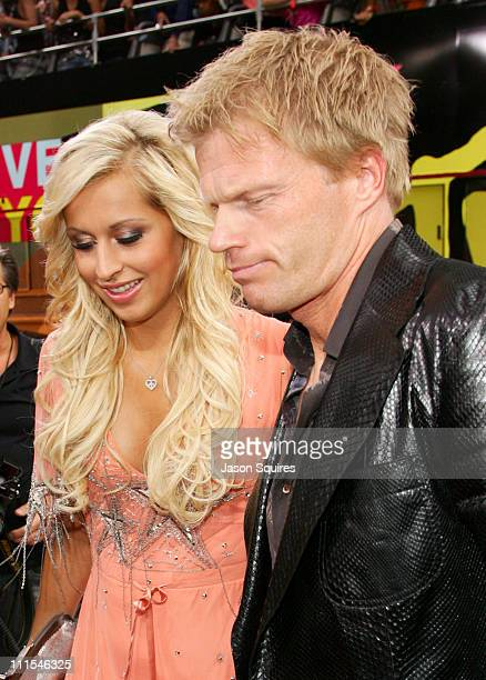 Verena Kerth and Oliver Kahn during 2006 MTV Video Music Awards MTVcom Red Carpet at Radio City Music Hall in New York City New York United States
