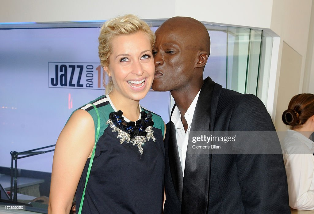 Verena Kerth and Papis Loveday attend the Gala Fashion Brunch at Ellington Hotel on July 5, 2013 in Berlin, Germany.