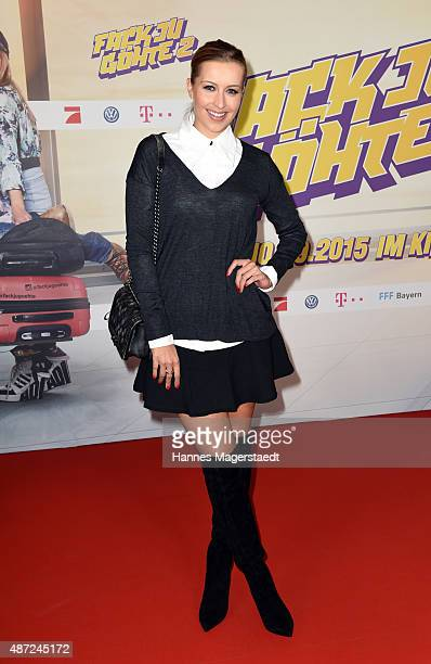 Verena Kerth attends the 'Fack ju Goehte 2' Munich Premiere at Mathaeser Filmpalast on September 7 2015 in Munich Germany