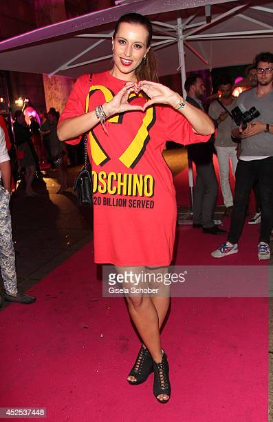 Verena Kerth attends the P1 summer party at P1 on July 22 2014 in Munich Germany