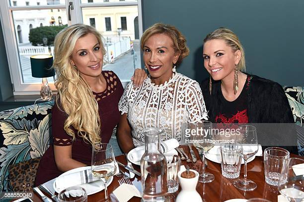 Verena Kerth Julia Prillwitz and Alessandra Geissel during the 10th anniversary party of the designer label Joana Danciu at Rocca Riviera on August...