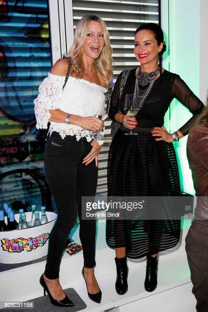 Verena Klein and Gitta Saxx during the Audemars Piguet and Wempe OldSchool Hip Hop Party at Skyloftstudios on July 26 2017 in Munich Germany