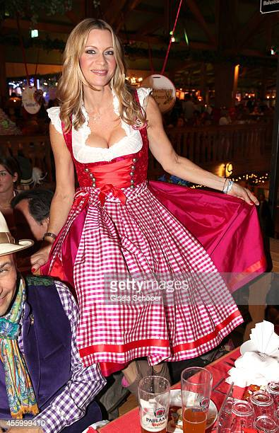 Verena Klein attend the 'GoldStar TV Wiesn' during Oktoberfest at Weinzelt Theresienwiese on September 23 2014 in Munich Germany